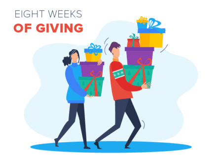 eight weeks of giving and filling your child's christmas stocking