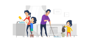 Let them help with housework