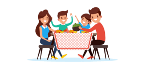 Eat lunch together